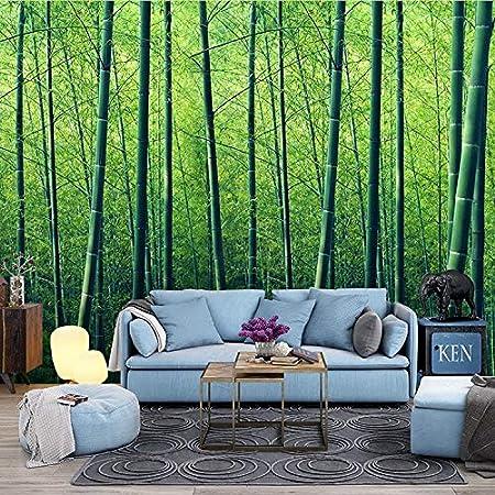 BZDHWWH Paisajes Naturales Bosque De Bambú 3D Papel Tapiz Dormitorio Habitación Hotel Restaurante Restaurante Bar De Ocio Papel Tapiz Murales,12'5' X 7'10'(Ft)