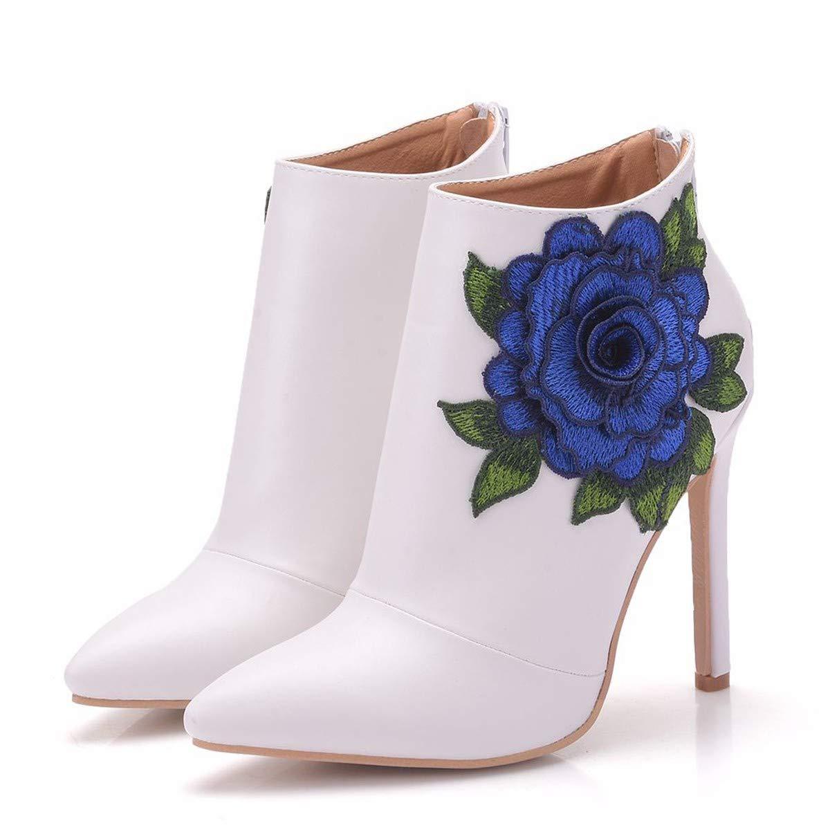 LBTSQ-Mode schöne und Kurze Stiefel spitz sexy Spitzen-Blumen Martin Stiefel super-high-Heels Frauen-Stiefel.