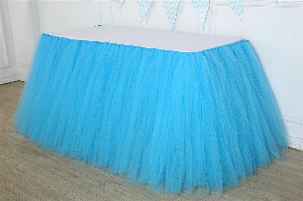 Tisch-Tutu Home Party Dekoration Tulle Tisch Rock f/ü r Hochzeit Blau Hrtc Geburtstag Baby Dusche Baby Tischr/ö cke T/ü ll-Tischrock Prinzessin Party
