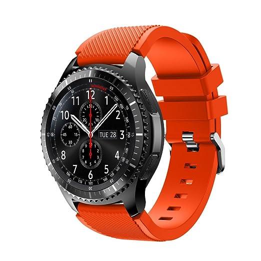 8 opinioni per Ihee Cinturino di ricambio per Samsung Gear S3Frontier, in morbido silicone,