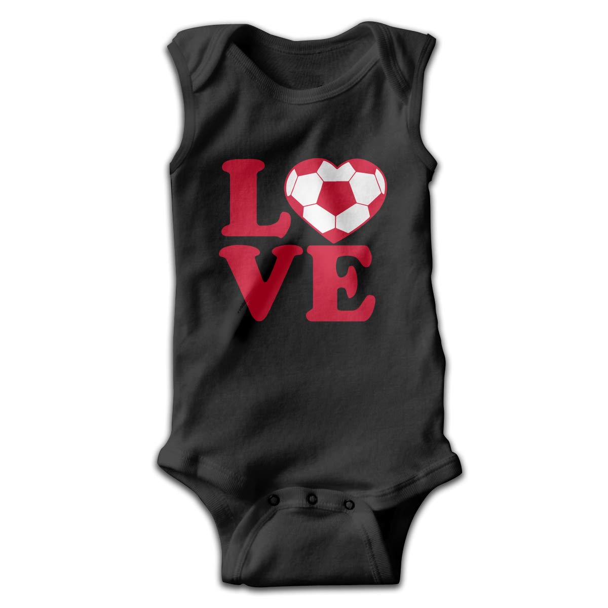 Toddler I Love Soccer Sleeveless Baby Clothes Playsuit Suit 0-24 Months
