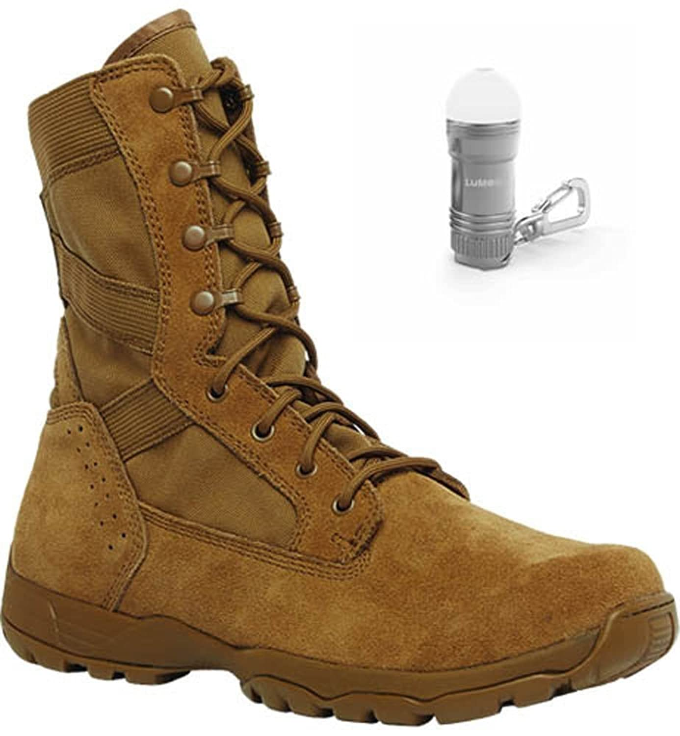 a202ae0a14 chic Belleville TR513 Coyote Flyweight Hot Weather Boots with BONUS Nebo  Light (2 Bundle Items