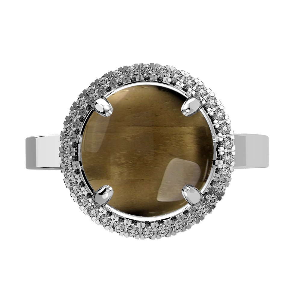 5.60ctw Genuine Smoky Quartz Round /& .925 Silver Overlay Solitaire Rings