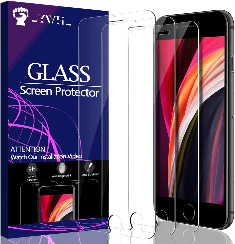 "[3 Pack] LYWHL iPhone SE 2020 Screen Protector, Tempered Glass for iPhone SE 4.7"" HD Clear 9H Hardness [Bubble Free] [Easy Installation] [Anti-Scratch] Screen Protector for iPhone SE2"