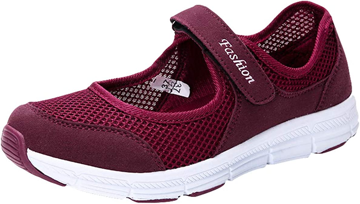 Mujeres Velcro Zapatos para Damas Calzado Casual Sandalias ...