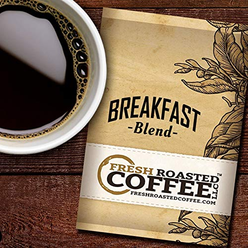 (Fresh Roasted Coffee LLC, Breakfast Blend Coffee, 1.75 Ounce Pre-Ground Fractional Packages, 42 Portion Packs)