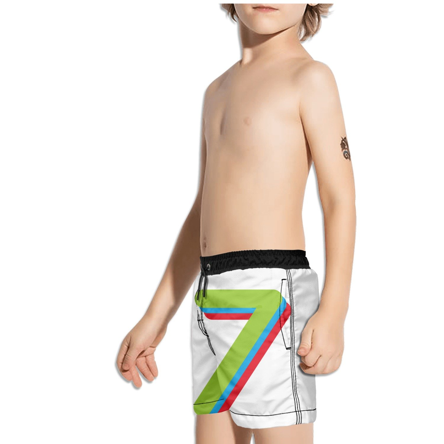 Ouxioaz Boys Swim Trunk No 17 Designed Art Beach Board Shorts