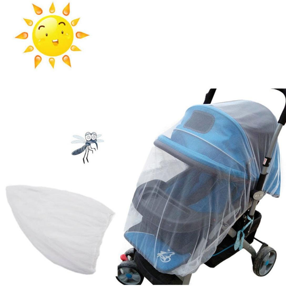 Kingfansion The Only Drawstring Mosquito Net for Baby Strollers, Car Seats, Bassinets and Carriers - Ultra Fine Mesh Protection Against Mosquitos, No-See-Ums and tiny bugs no Harmful Chemicals Kingfansion Baby