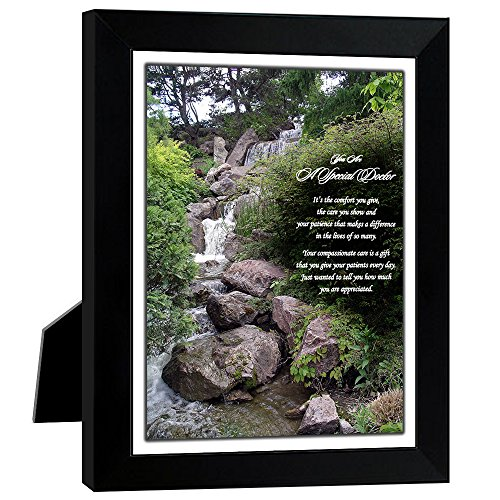 It's The Comfort You Give Doctor Gift - Waterfall Photo with Poem in 8x10 Inch Frame (Best Gift To Give A Doctor)