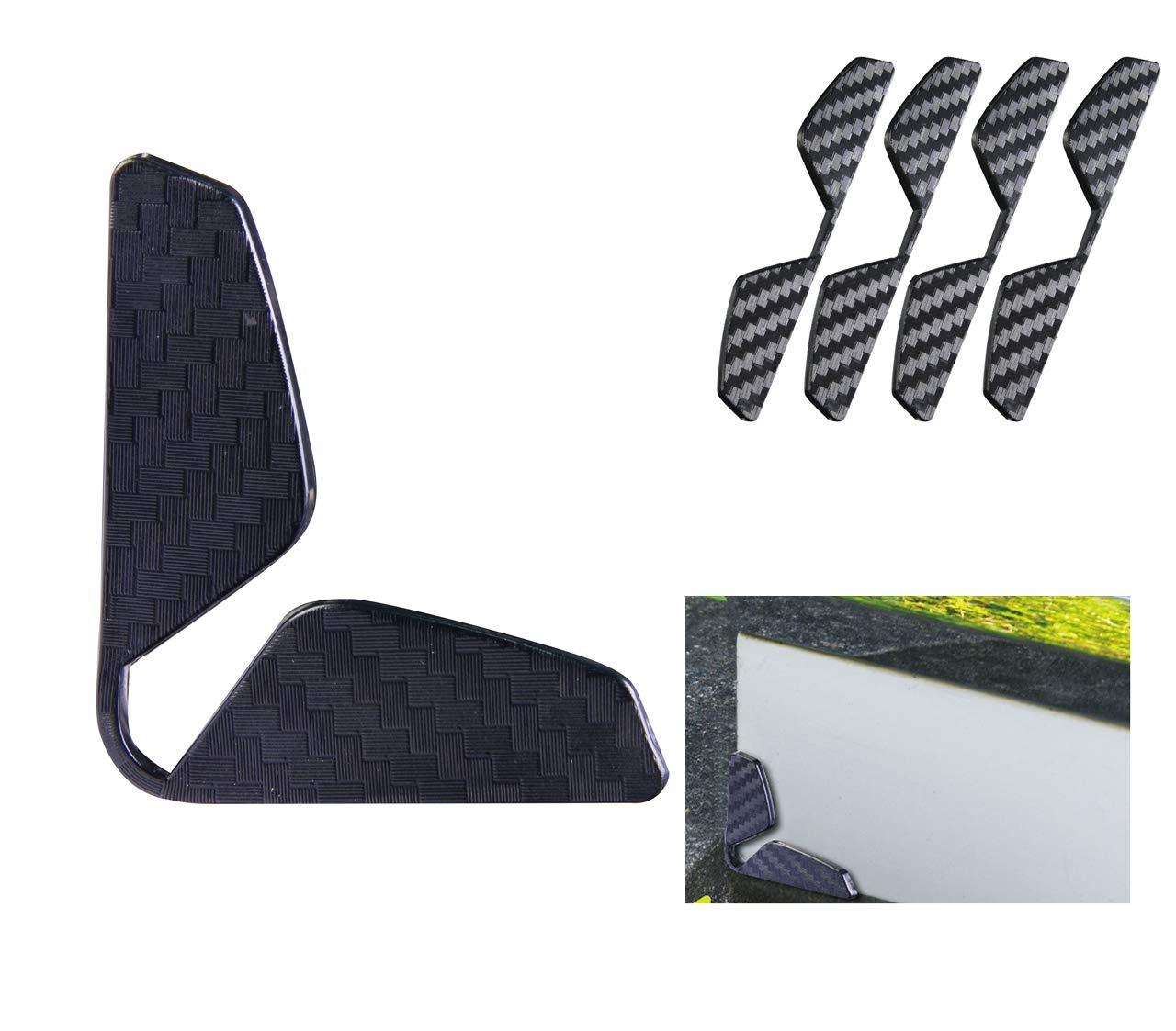 Hypersonic Car Door Protector Black Car Door Edge Guards Black Trim Auto Carbon Fiber Anti-Scratch Protector Side Corner Bumpers Protection Sticker 4PCS black