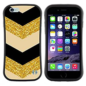 "Hypernova Slim Fit Dual Barniz Protector Caso Case Funda Para Apple (4.7 inches!!!) iPhone 6 / 6S (4.7 INCH) [Glitter Chevron Negro Beige Bailarín""]"