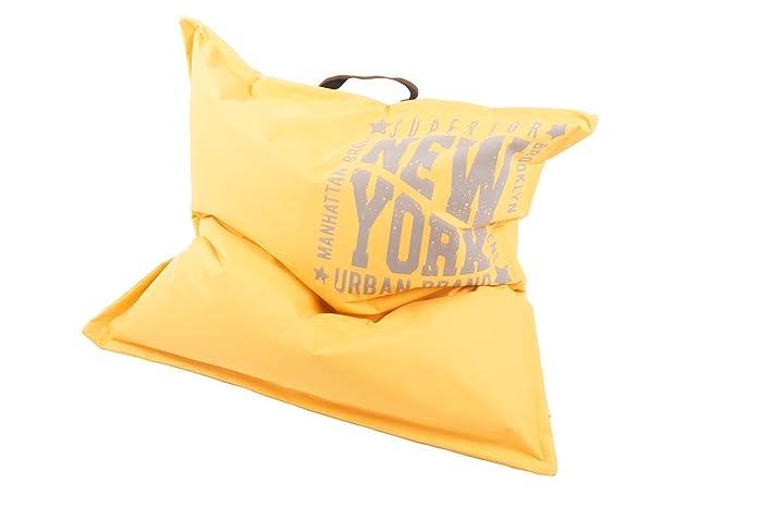 Canenya Sitzsack Big Yellow Xxl Bodenkissen 110cm X 110cm Neu