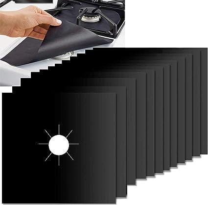 8pcs Anti-adhésif Réutilisable... Plaque de Cuisson à Gaz Protection d/'écran
