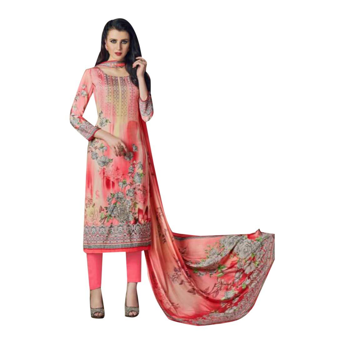 Fashionable Digital Printed crape Straignt Salwar kameez fancy stone work Casual wear 7120 8