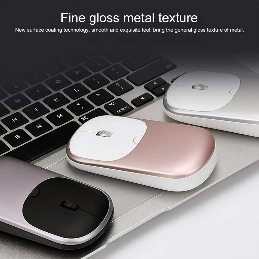 Color : Pink I35t 2.4G Dual-Mode Wireless Bluetooth Mouse
