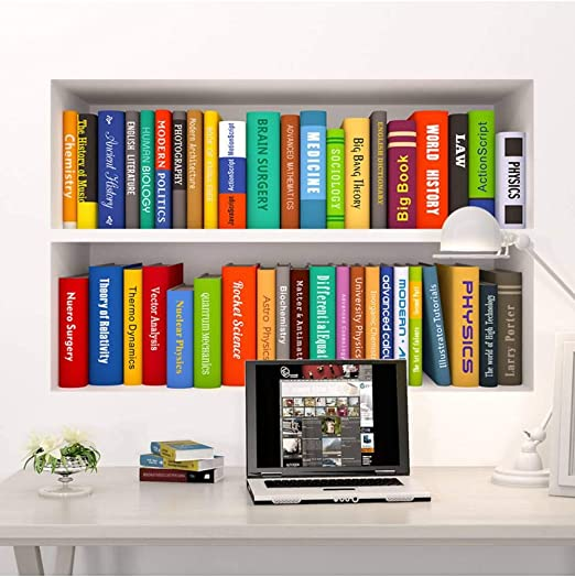 WSXEDC 3D Creativo Fake Bookcase Home Decor Vinilo