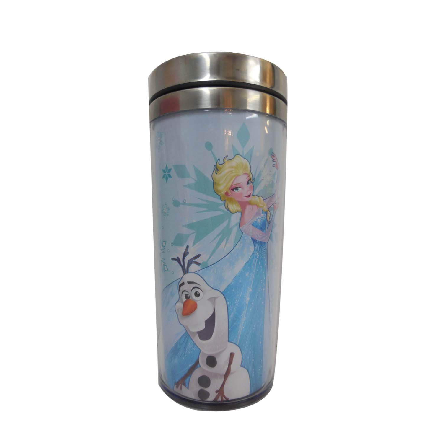 Silver Buffalo DP6187ST Disney Frozen's Olaf & Elsa Stainless Travel Mug, 16-Ounces