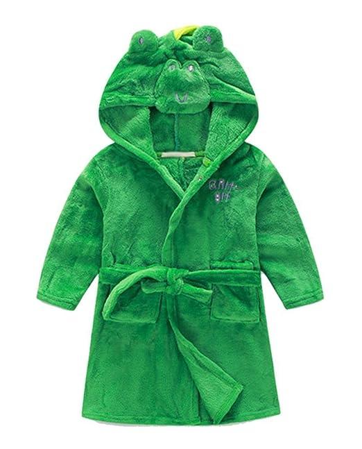 ceb0c3ccb Top and Top Little Girls Coral Fleece Bathrobe Unisex Kids Robe ...