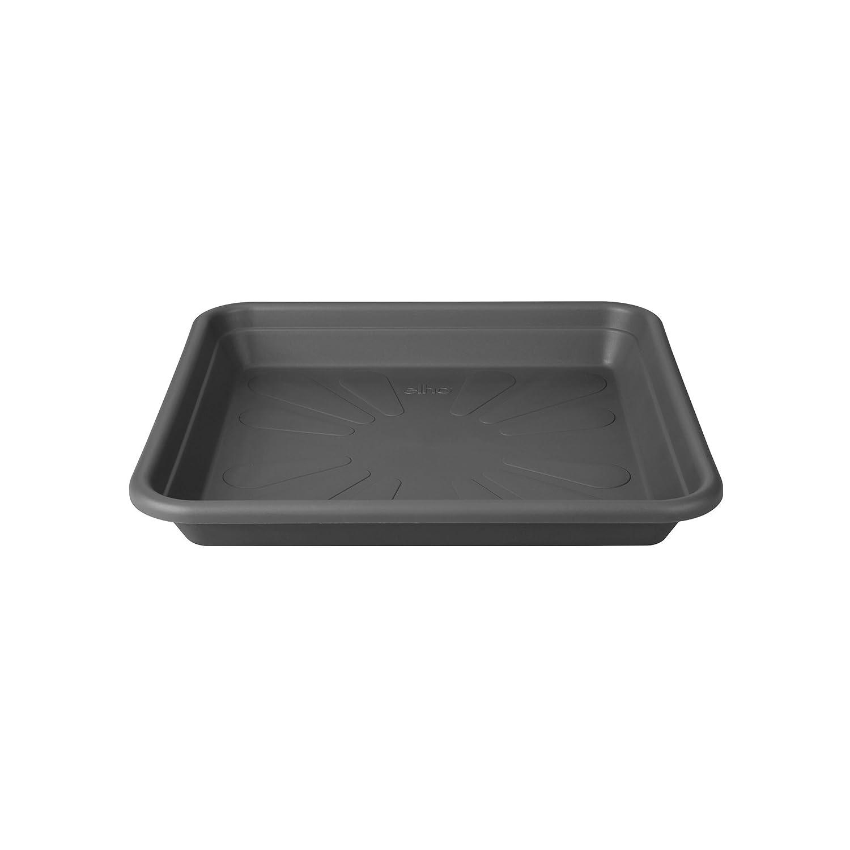 Elho universal saucer square 20cm saucer - anthracite 5980302042500