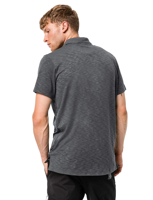 Jack Wolfskin Mens Travel Odor Inhibiting Polo Shirt