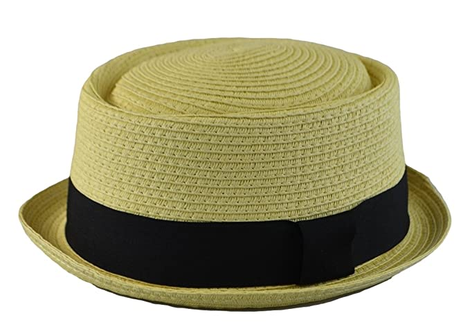 Mens Summer Fedora Cuban Style Upturn Short Brim Stiff   Thick S M ... 424b1d513fb