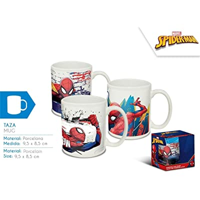 Disney - Spider-Man Tasse en Céramique 3 Modèles Assorties, MV15387