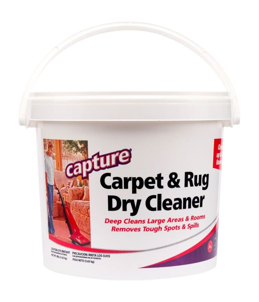 Capture Carpet Dry Cleaner Powder 8 lb - Deodorize Allergens Stain Smell Moisture from Rugs Furniture Clothes and Fabric, Pet Stains Odor Smoke and Allergies Too by Capture