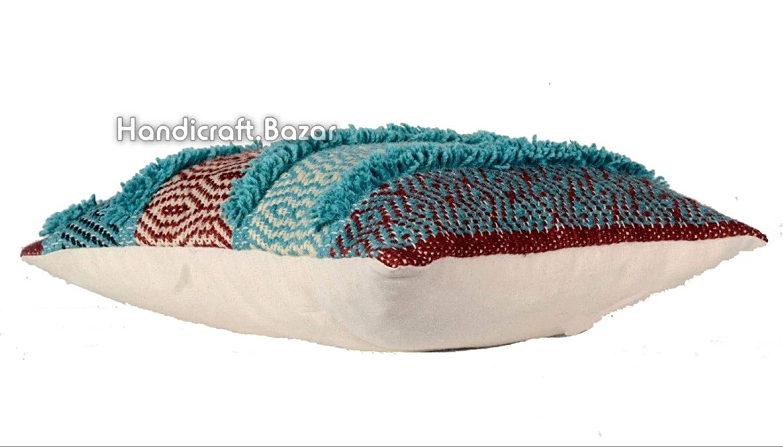 Handicraft Bazar Funda de cojín hindú de 45 x 45 cm, de ...