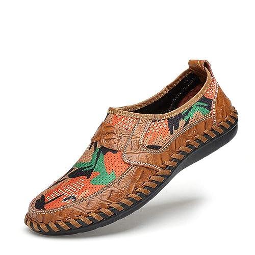WWJDXZ Zapatos de Verano Transpirables y de Baja Ayuda para los Hombres Mocasines Zapatillas de conducción Casual: Amazon.es: Zapatos y complementos