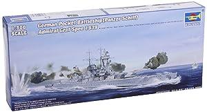 Trumpeter 1/700 German Admiral Graf Spee Pocket Battleship 1939 Model Kit