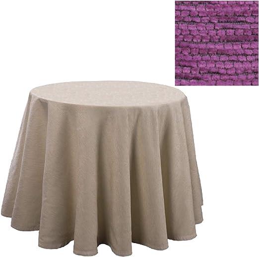 Falda para Mesa Camilla Redonda Modelo Calpe, Color Lila, Medida 100cm de diámetro: Amazon.es: Hogar