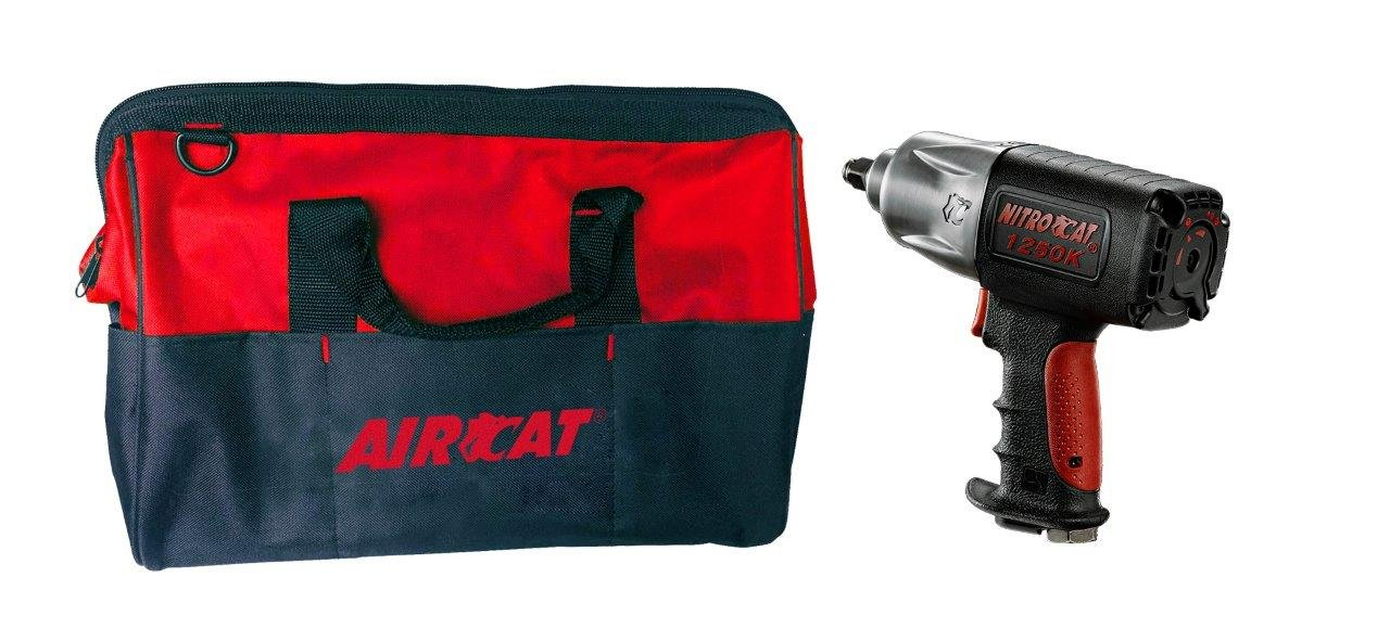 AIRCAT 1250-KBAG 1 2 Kevlar Impact with Travel Bag, Black