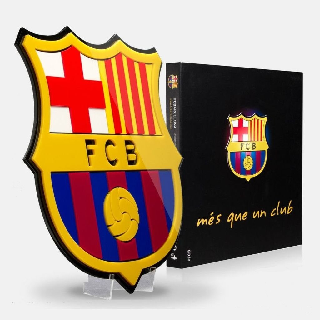 Amazon Fc Barcelona Soccer Crest Shield Acrylic To Hang On