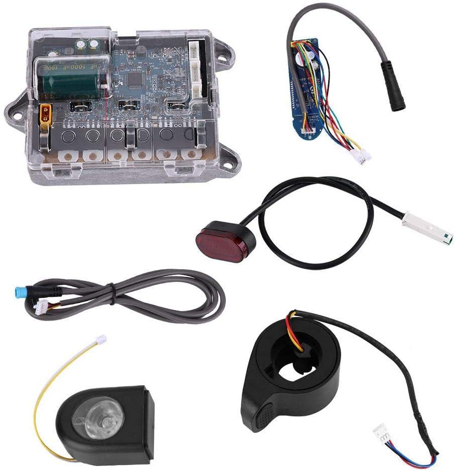 Juego de piezas de la placa de circuito de reemplazo de la placa base de la placa base E-Bike con placa Bluetooth, faro, luz trasera, acelerador, cable para XIAOMI MIJIA M365 Ninebot E-Bicycle