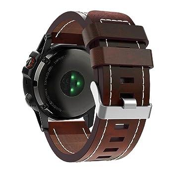Garmin Fenix 5X reloj banda, Topten piel correa de muñeca banda pulsera de repuesto para