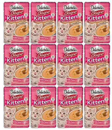 Delectables Bisque Kitten Lickable Wet Cat Treats - Chicken & Tuna - 12 Pack ()