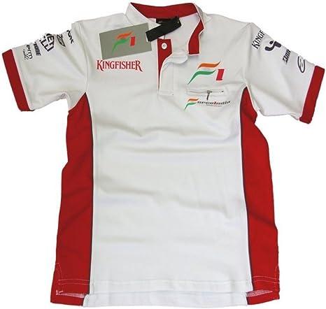 Carrera camisa: fórmula uno Force India F1 NEW 1 XXL blanco: Amazon.es: Deportes y aire libre
