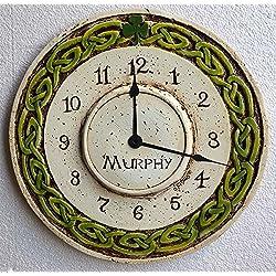 Piazza Pisano Irish Celtic Knot Personalized Wall Clock