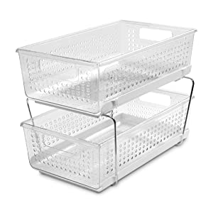 "madesmart 29091 Organizer, 9"" Lx 14.5"" W x 10.5"" H, Clear-Without Dividers"