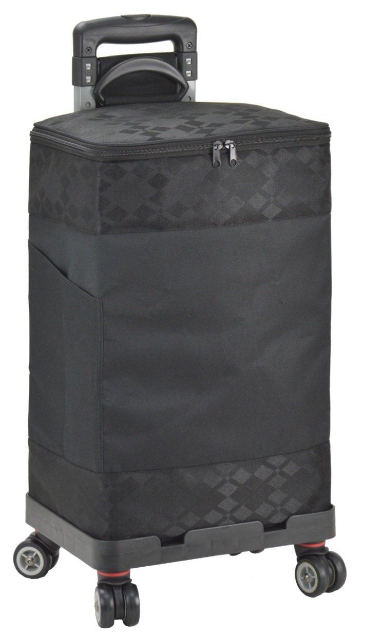 ヴァレンチノヴィスカーニ(VALENTINO VISCANI) ショッピングカート4輪保冷温タイプ (黒) B072R23GLW 黒 黒