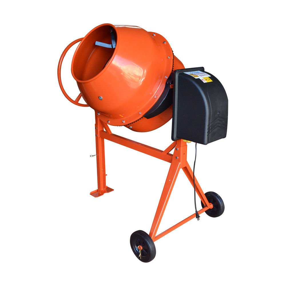 HD Portable Electric 210L Steel Stucco Concrete Cement Mixer Contractor Mortar
