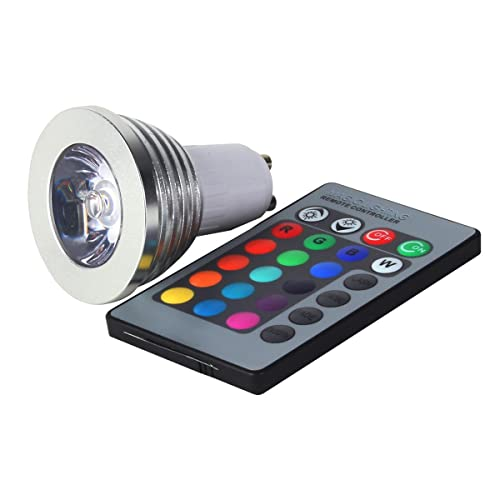 gu10 multi color led light bulb with remote control gu10 rgb kitchen home. Black Bedroom Furniture Sets. Home Design Ideas