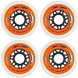 Labeda Gripper Roller Hockey Inline Wheels White 80mm Soft 78A 4 Pack