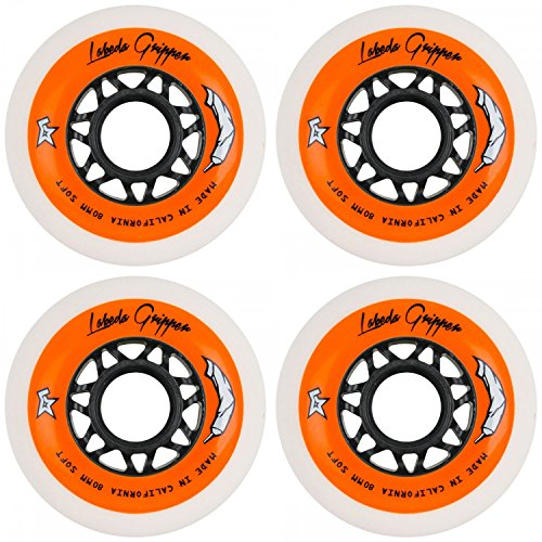 r Hockey Inline Wheels White 80mm Soft 78A 4 Pack ()