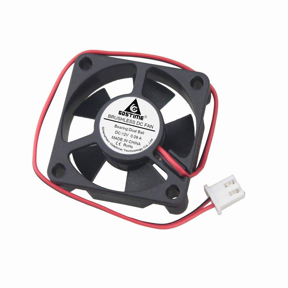 GDSTIME Ball Bearing 35mm x 35mm x 10mm DC 12v Brushless Dc Cooling fan