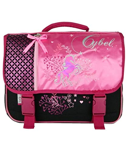 taille 40 2aac5 63ee9 Cartable 38 Cm Cybel Cheval Rose Bagtrotter