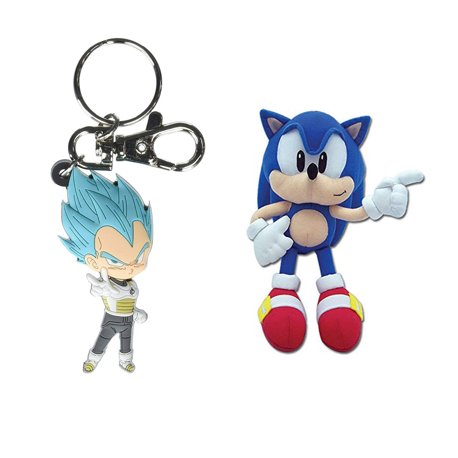 BUNDLE Sonic The Hedgehog: Classic Sonic 9'' Plush with Additional Item by Great Eastern