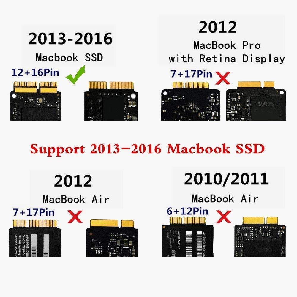 meitk Externo USB 3.0 SSD Caja para 2013 2014 2015 MacBook A1465 ...