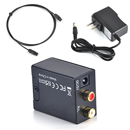 Christmas Gifts Professional Converter Digital to Analog Converter RCA Digital Optical Coaxial Toslink to Analog Stereo