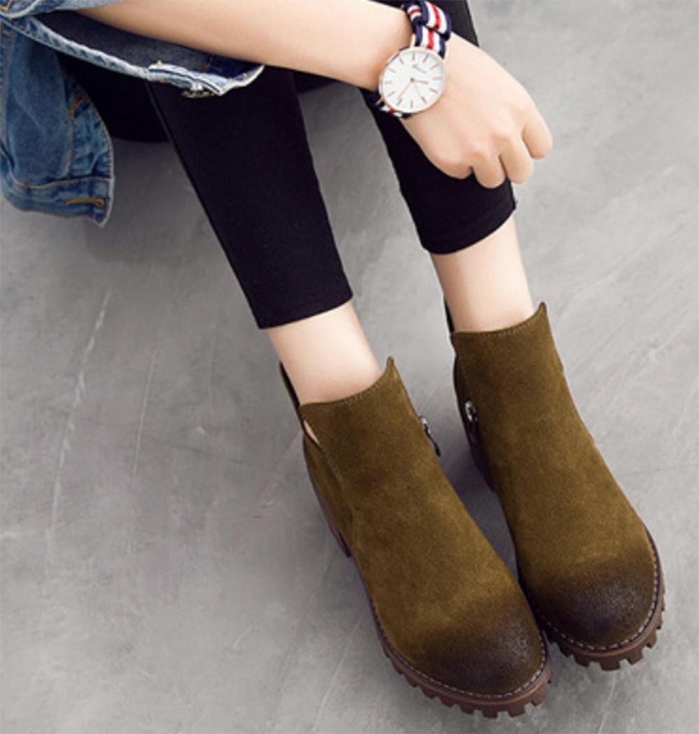 Mei Herbst und Winter Damen Stiefel Casual Scrub Frauen Frauen Frauen Stiefel Martin Stiefel US6 5–7 EU37 Vereinigtes königreich4 5–5 CN37 90275d